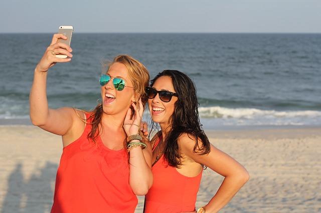 selfičko na pláži
