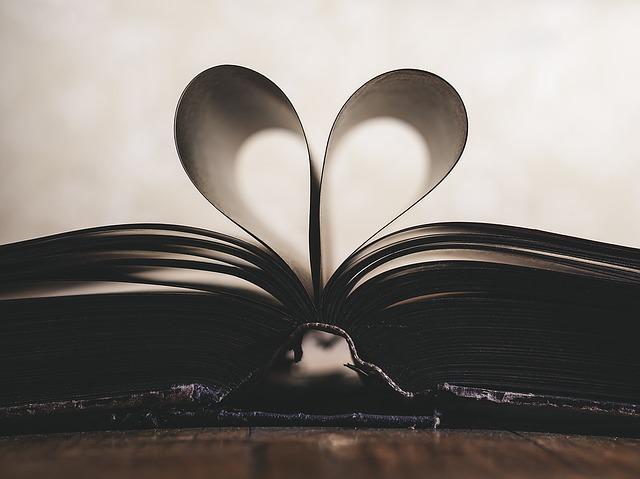 srdce ze stran knihy